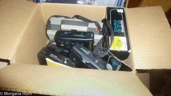 Inside Box of Film Cameras