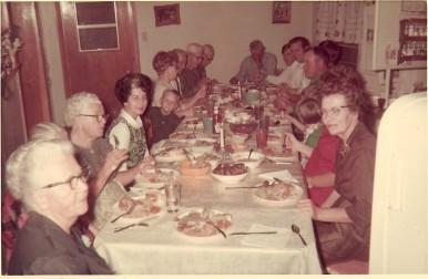 1968 holiday meal kolache on plate