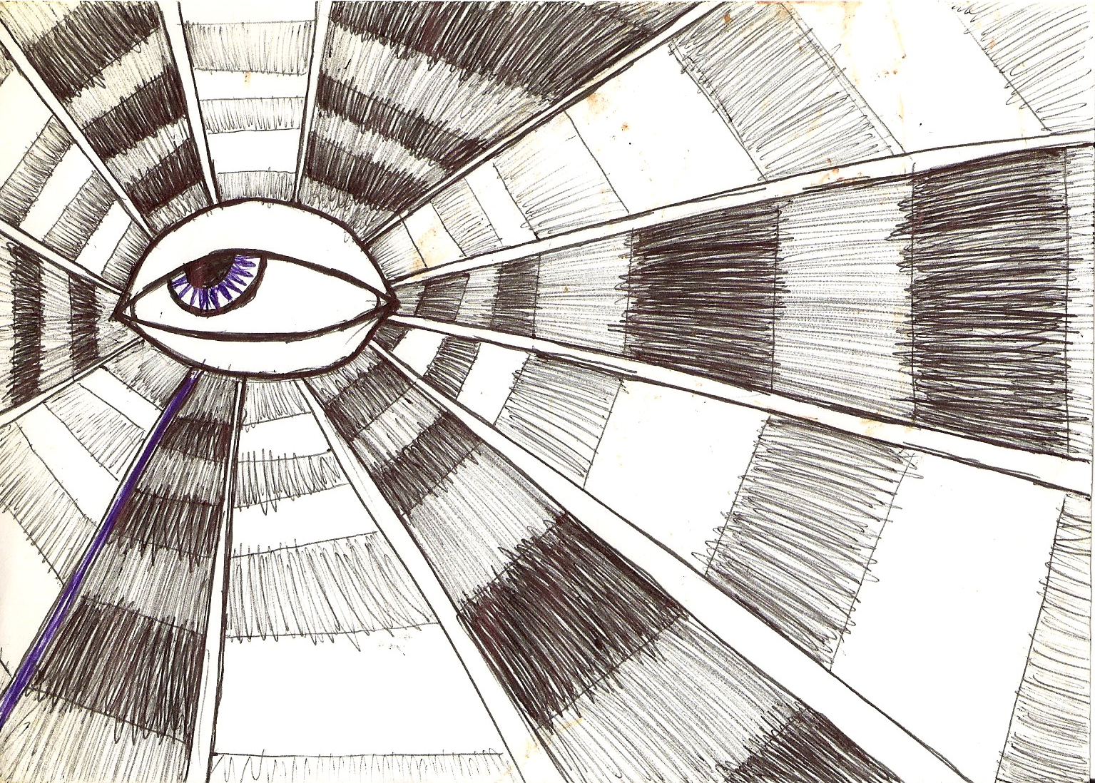 Eye with One Blue Line 1