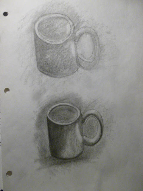 coffee cup graphite sketch