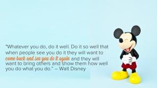 do it well