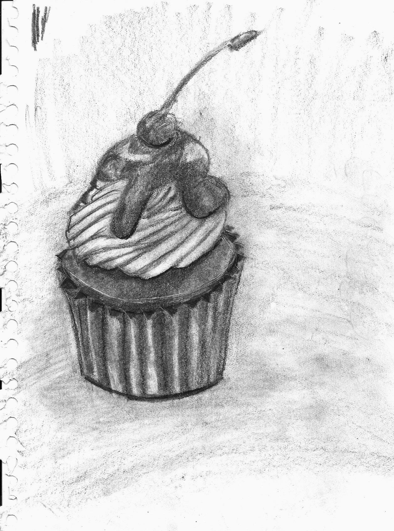 graphite cupcake