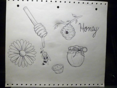 honey sketches-1