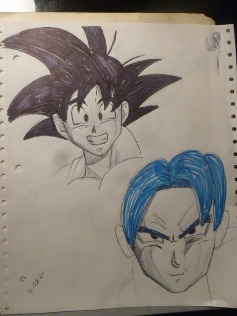 quick goku sketches