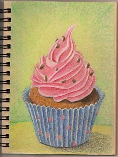 Polychromos cupcake